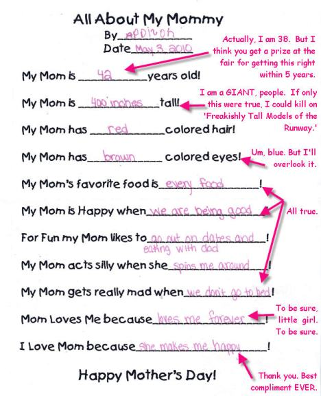 Addison's Mother's Day Letter 2010