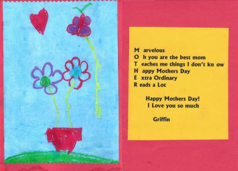 Griffin's Mother's Day Card, 2010