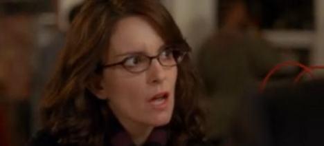 Tina Fey rolliing her eyes
