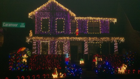 Winner of the Clark W. Griswold Foundation '2011 Most Crazed Christmas Lights' Award